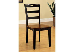 Johnstown Black & Oak Side Chair (Set of 2)