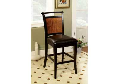 Image for Salida II Acacia and Black Counter Height Chair (Set of 2)
