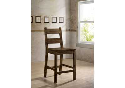 Kristen Rustic Oak Counter Ht. Side Chair (2/Ctn)