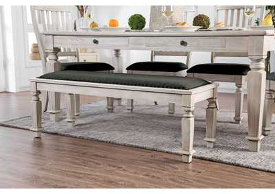 Georgia Antique White Dining Bench