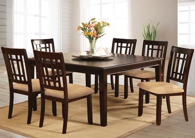 Central Park l Extension Leaf Dining Table w/4 Side Chairs