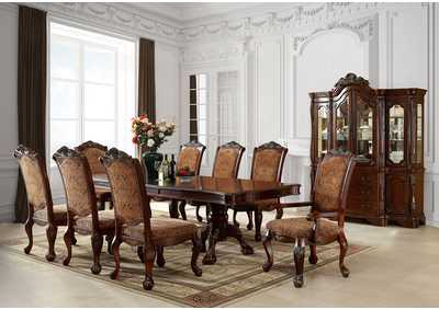 Image for Cromwell Antique Cherry Extension Dining Table w/6 Side Chair
