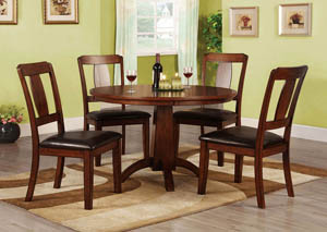 Englewood Antique Dark Oak Side Chair (Set of 2)