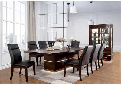 Image for Lawrence Dark Cherry Extension Dining Table w/6 Side Chair