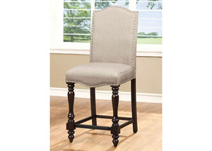 Image for Hurdsfield II Linen Upholstered Counter Chair (Set of 2)