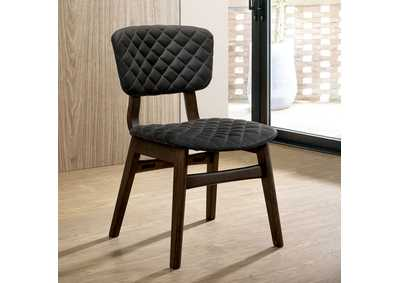 Shayna Espressso Upholstered Side Chair (2/Ctn)