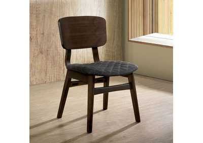 Shayna Gray Walnut Side Chair (2/Ctn)