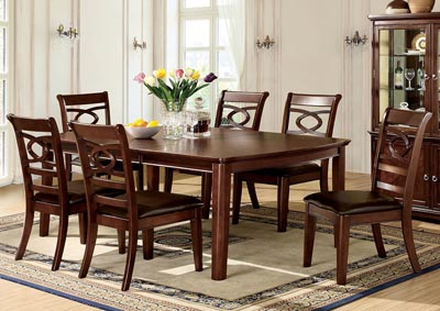 Carlton Brown Cherry Extension Dining Table w/4 Side Chairs