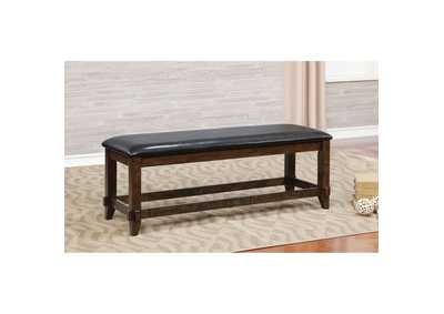 Meagan I Brown Cherry/Espresso Bench