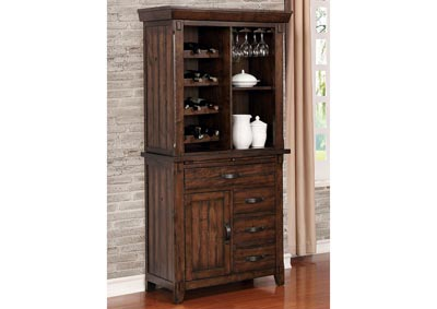 Meagan I Brown Cherry Wine Cabinet