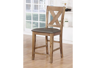 Lana Weathered Natural Tone Counter Height Chair (Set of 2)