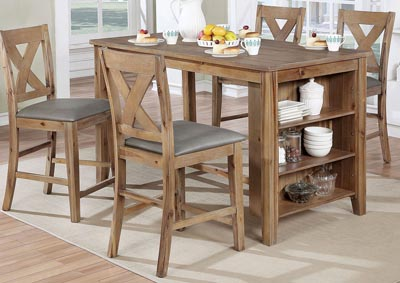Lana Weathered Natural Tone Counter Height Table