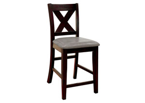 Lana Dark Walnut Counter Height Chair (Set of 2)