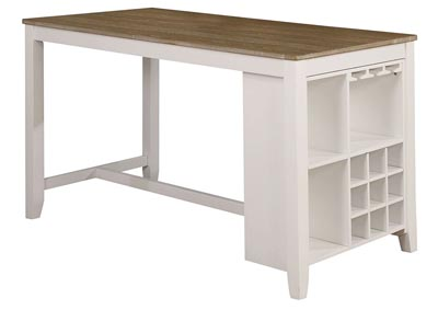 Kiana White Counter Height Table