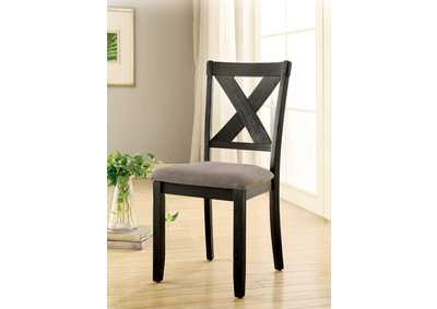 Xanthe Black Side Chair (Set of 2)