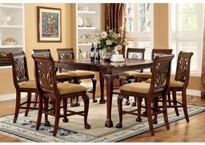 Image for Petersburg l Cherry Square Counter Height Dining Table w/8 Counter Height Side Chairs