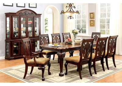 Petersburg l Cherry Rectangle Extension Dining Table w/6 Side Chairs & 2 Arm Chairs