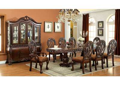 Wyndmere Cherry Dining Table w/6 Side Chairs & 2 Arm Chairs