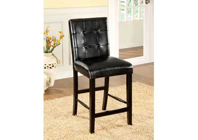 Image for Bahamas Black Counter Height Chair (Set of 2)