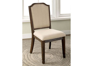 Haylee Beige Upholstered Side Chair (Set of 2)