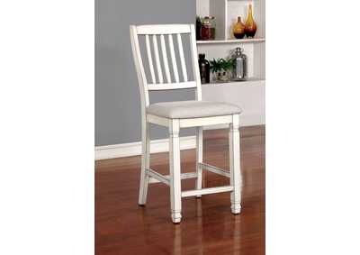 Kaliyah Antique White Counter Height Chair (Set of 2)