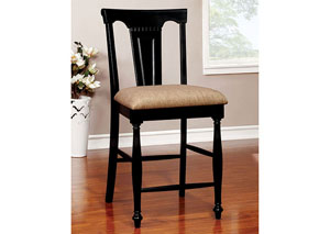 Sabrina Cherry and Black Counter Height Chair (Set of 2)