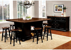 Sabrina Cherry and Black Counter Height Stool (Set of 2)
