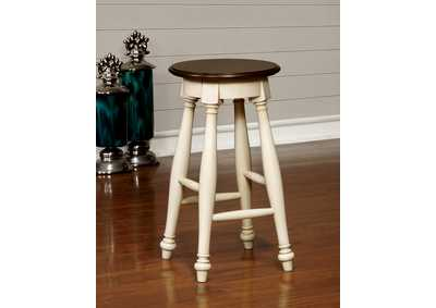 Sabrina Cherry and White Counter Height Stool (Set of 2)