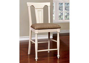 Sabrina Cherry and White Counter Height Chair (Set of 2)