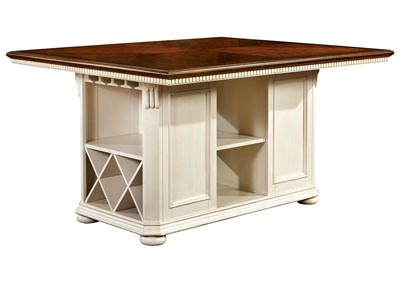 Sabrina Cherry and White Counter Height Table