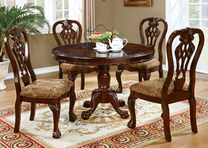 Image for Elana Brown Cherry Round Dining Table