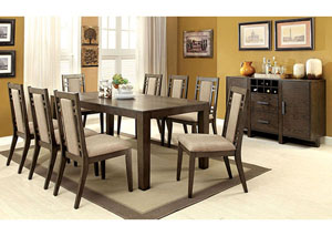 Image for Eris l Gray Dining Table w/8 Side Chairs
