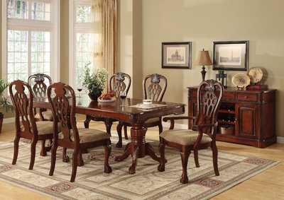 George Town Cherry Extension Dining Table w/4 Side Chairs