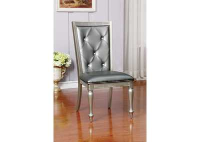 Sarina Silver Gray Side Chair (Set of 2)