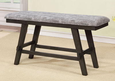 Tollerson Gray Counter Height Bench