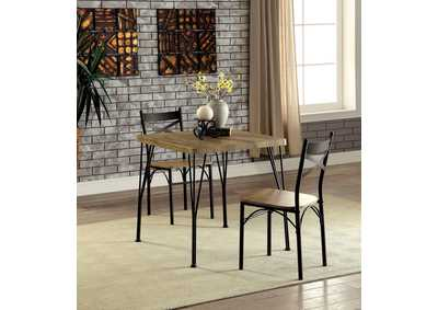 Slingsbury Gray/Dark Bronze 3 Piece Dining Table Set