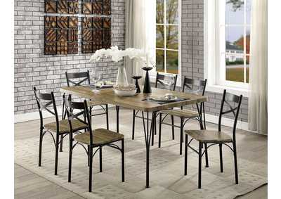 Banbury Gray/Dark Bronze 7 Piece Dining Table Set