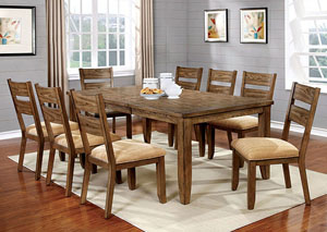 Ava Light Oak Dining Table W/18u0027 Leaf