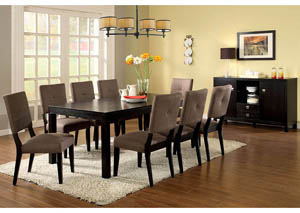 Bay Side I Espresso Dining Table w/6 Side Chairs