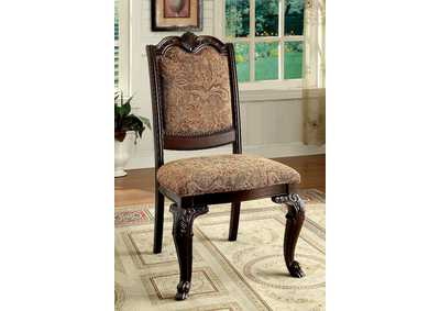 Bellagio Brown Cherry Side Chair (Set of 2)