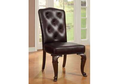 Bellagio Leatherette Side Chair (Set of 2)