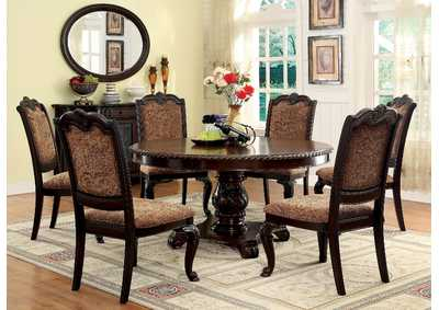 Bellagio Round Dining Table w/6 Side Chairs