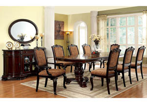 Bellagio Brown Cherry Extension Dining Table w/6 Side Chairs & 2 Arm Chairs