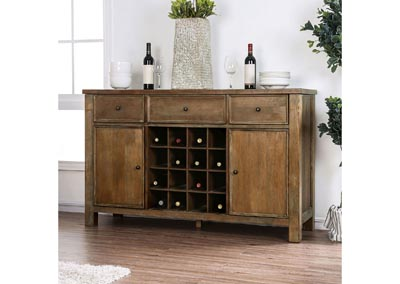 Sania III Rustic Oak Server