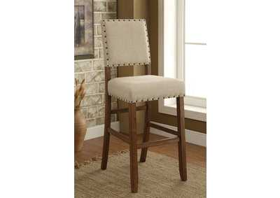 Sania II Rustic Oak/Ivory Upholstered Counter Height Chair (Set of 2)