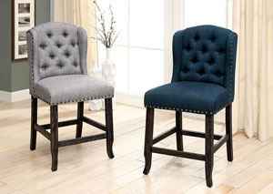 Sania II Blue Counter Chair