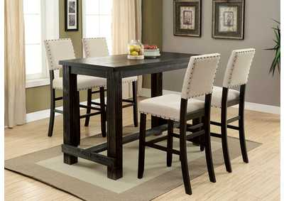 Sania II Antique Black Bar Table