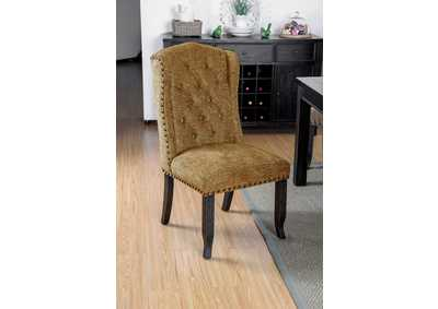 Image for Sania III Gold Upholstered Side Chair (Set of 2)