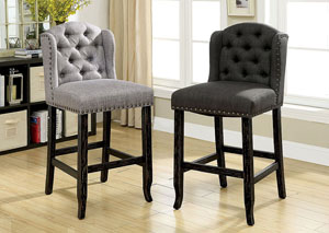 Sania II Grey Counter Chair
