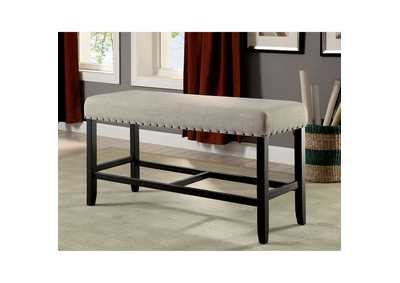 Sania II Ivory Counter Height Bench